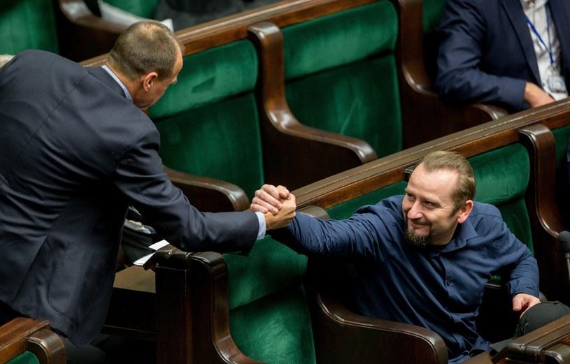 Piotr Liroy-Marzec i Paweł Kukiz /Andrzej Iwańczuk /Reporter