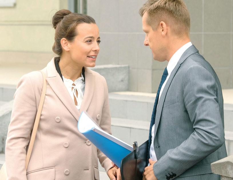 Piotr poradzi Magdzie, aby nie rezygnowała z mieszkania, które chce jej i Maćkowi zostawić Olek /Agencja W. Impact