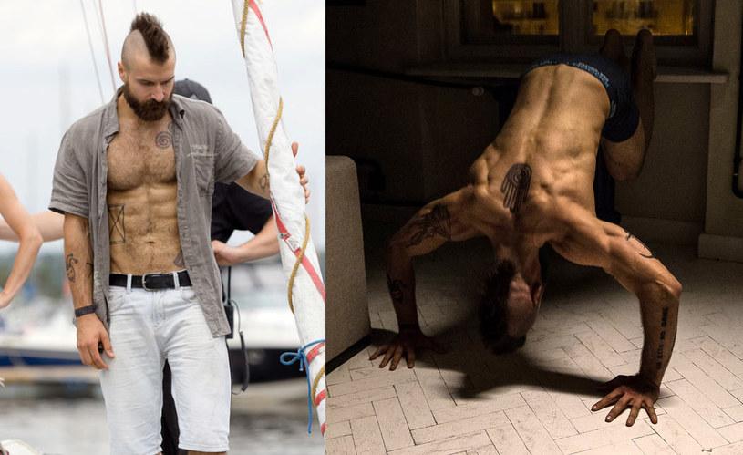 """Piotr Stramowski miał okazję do zaprezentowania w """"Pitbullu"""" imponującej muskulatury /materiały dystrybutora"""