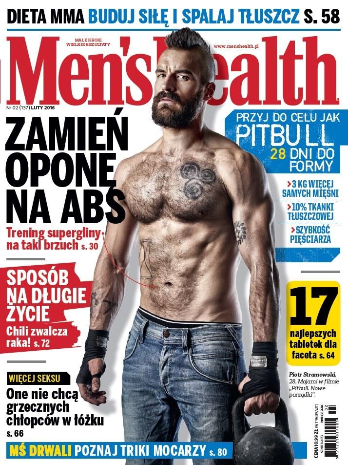 """Piotr Stramowski na okładce magazyu """"Men's Health"""" /materiały prasowe"""