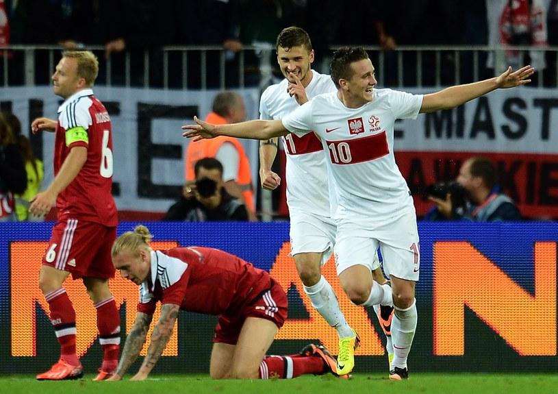 Piotr Zieliński i Mateusz Klich strzelali bramki Duńczykom /AFP