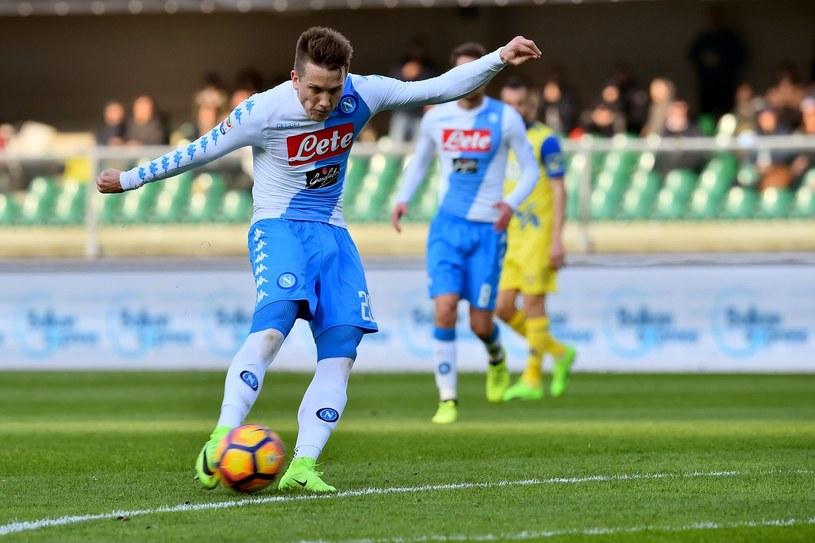 Piotr Zieliński podczas meczu Serie A /AFP