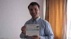 Piotr Zieliński z Warszawy, który przesłał na nasz konkurs zdjęcie lustra ze Strzegowa /Monika Gosławska /RMF FM