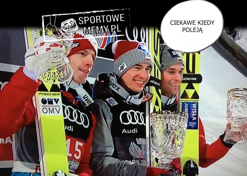 Piotrek tylko o jednym! /Sportowememy.pl /Internet