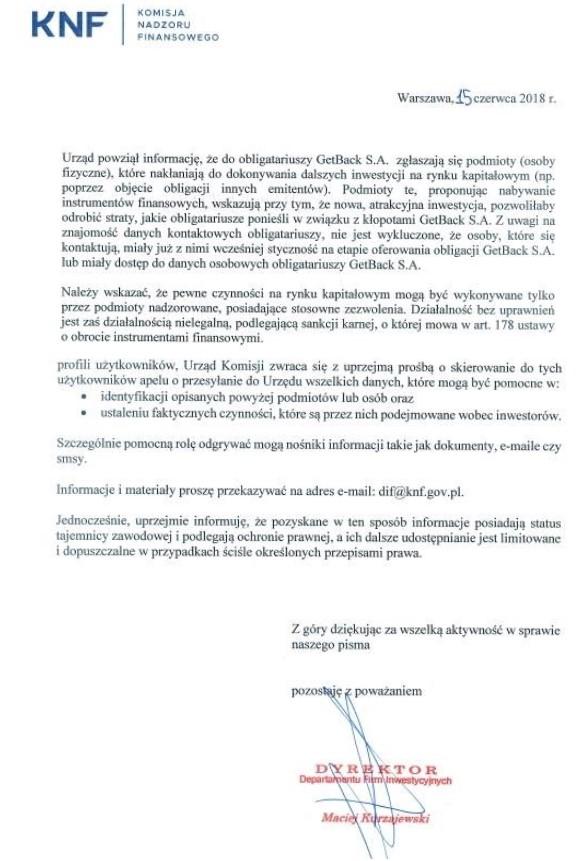 Pismo ostrzegawcze /Krzysztof Berenda /RMF FM