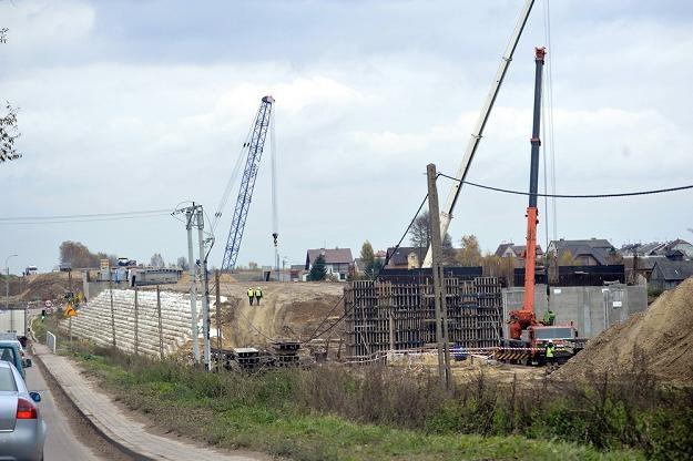 Plac budowy obwodnicy na trasie S8. Fot Witold Rozbicki /Reporter