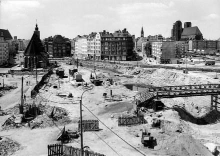 Plac Dominikański 1975 rok / fot. Stefan Arczylski /EchoMiasta_Wrocław