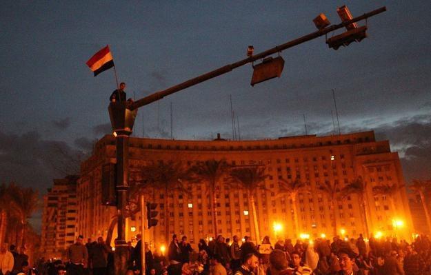 Plac Tahrir, główne miejsce antyprezydenckich protestów w Kairze, 30 stycznia 2011 r./AFP /New York Times/©The International Herald Tribune