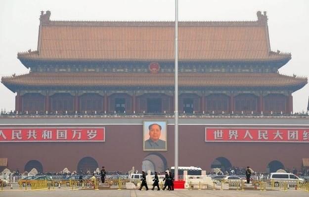 Plac Tiananmen w 1989 r. stał się areną wydarzeń do dziś objętych w Chinach zmową milczenia/AFP /New York Times/©The International Herald Tribune