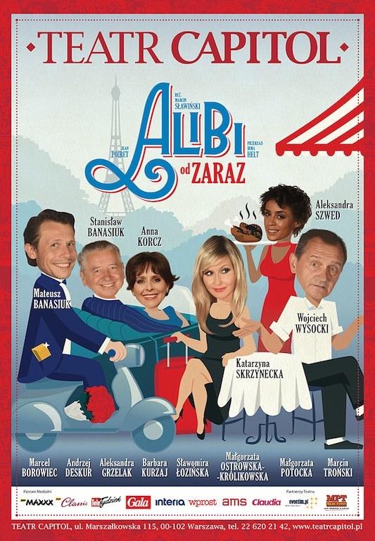 """Plakat """"Alibi od zaraz"""" /materiały promocyjne"""