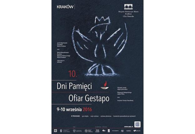 Plakat Dni Pamięci Ofiar Gestapo w Krakowie /materiały prasowe