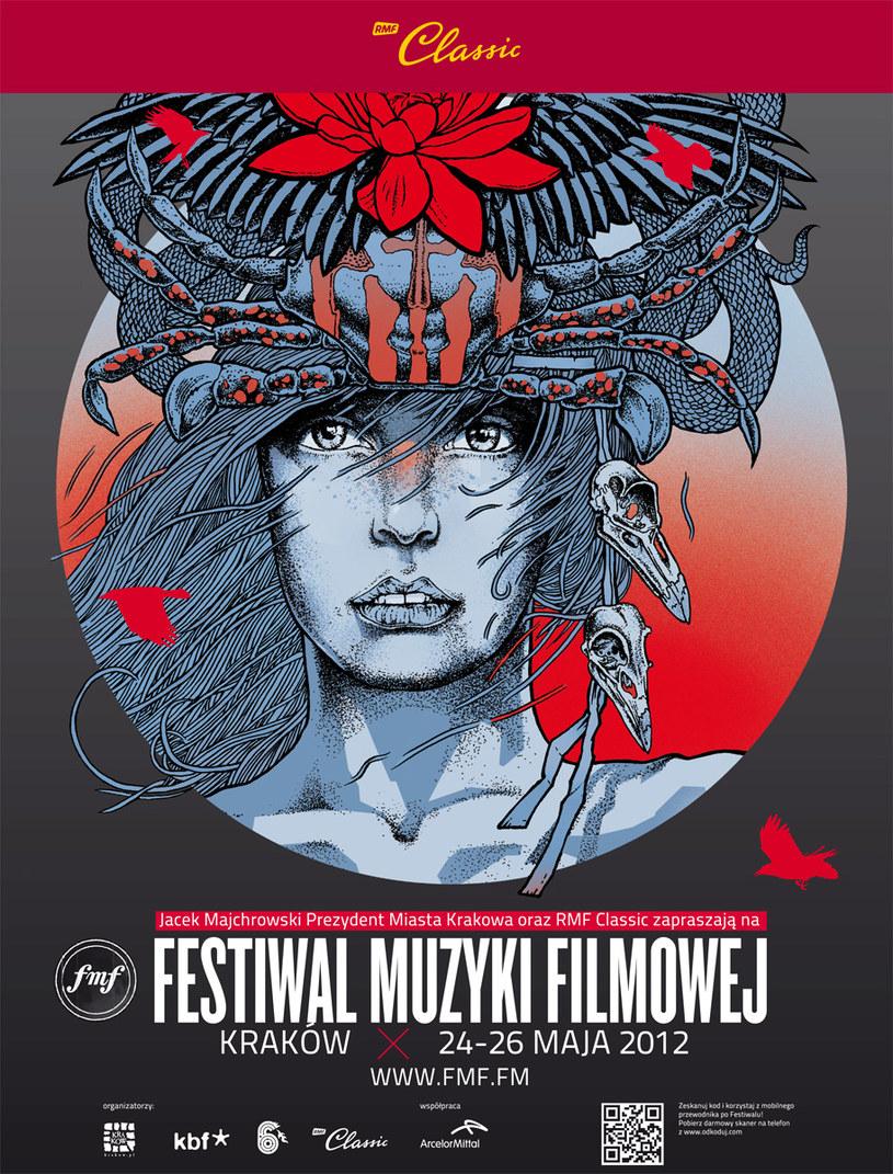Plakat Festiwalu Muzyki Filmowej w Krakowie /materiały prasowe