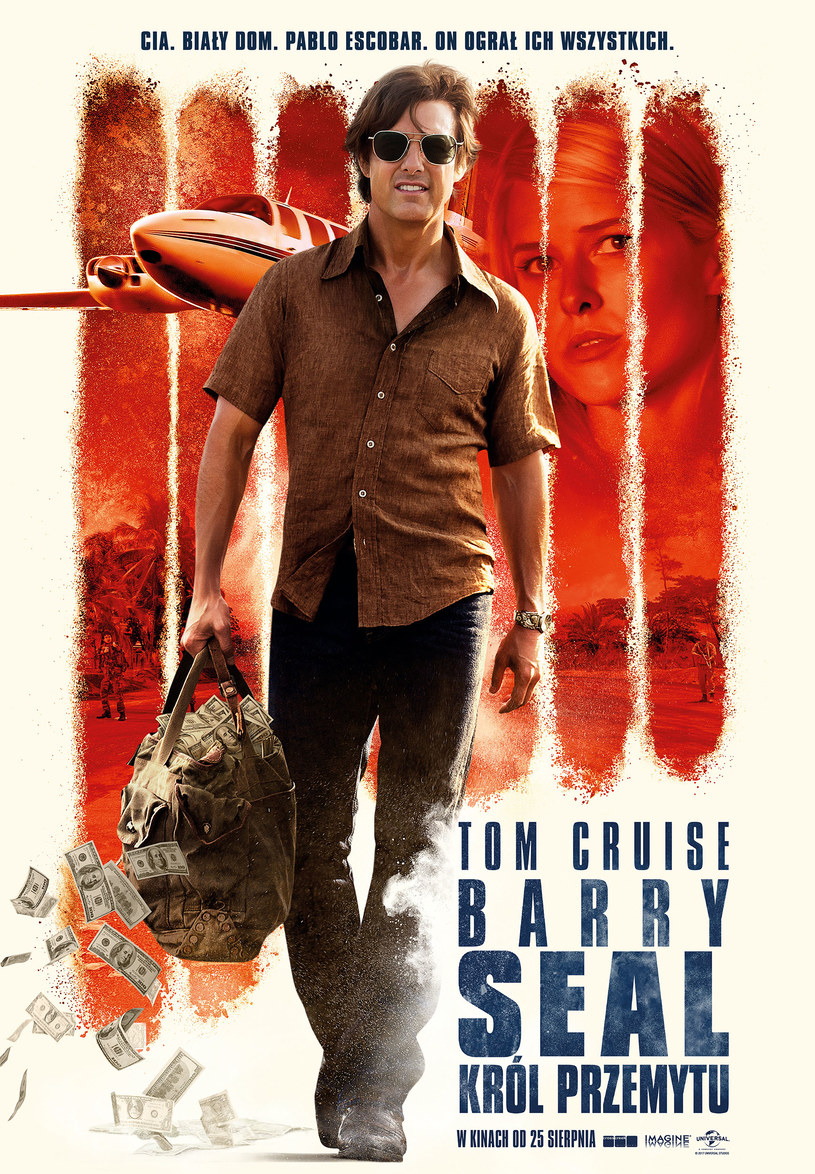 "Plakat filmu ""Barry Seal: Król przemytu"" /materiały dystrybutora"