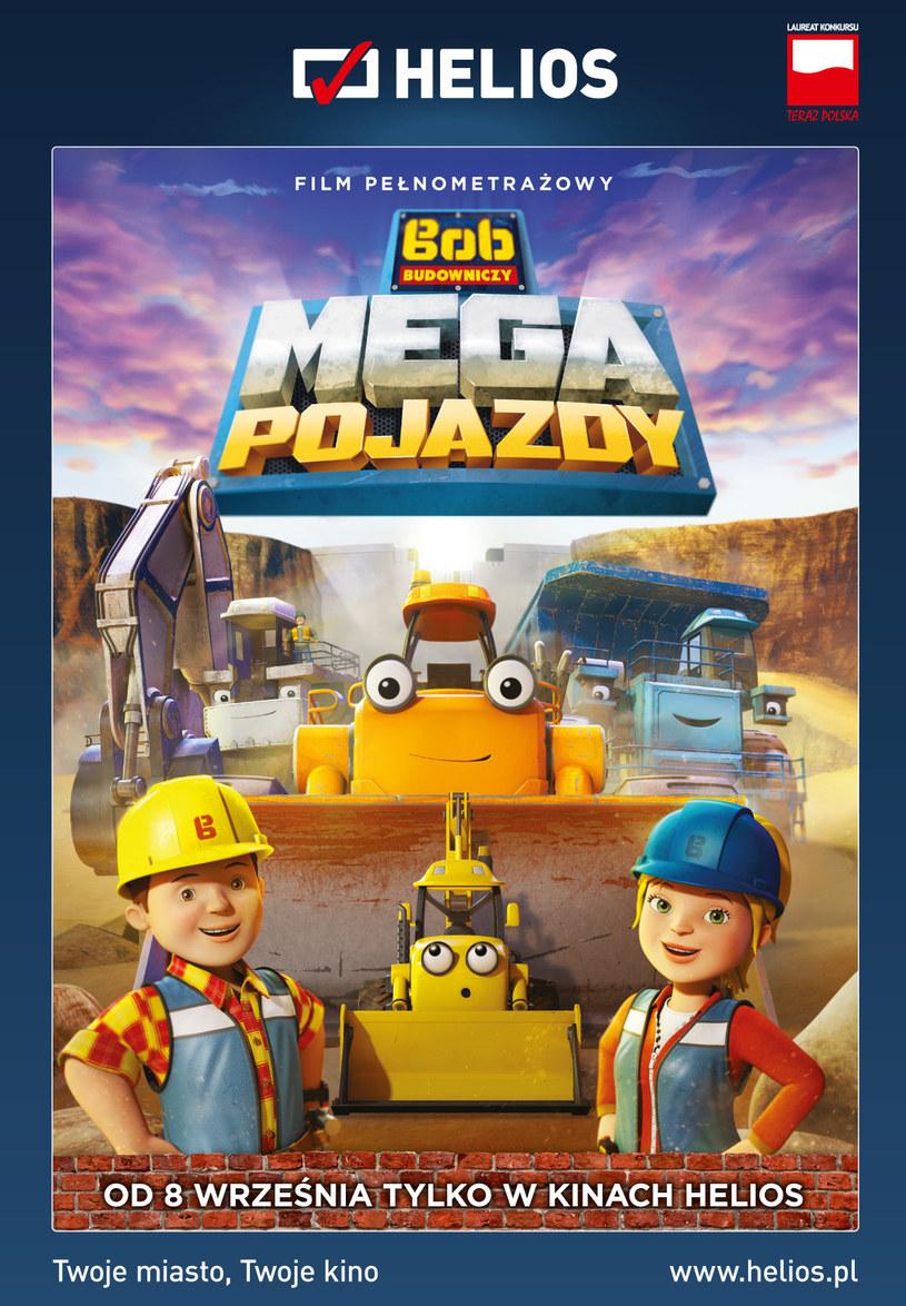 """Plakat filmu """"Bob Budowniczy: Mega Pojazdy"""" /materiały prasowe"""