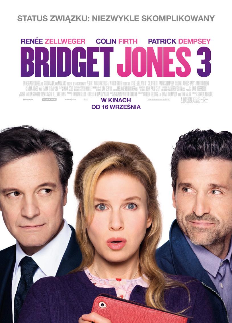 "Plakat filmu ""Bridget Jones 3"" /materiały dystrybutora"