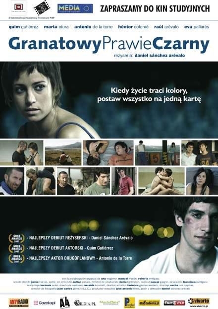 """Plakat filmu """"GranatowyPrawieCzarny"""" /"""
