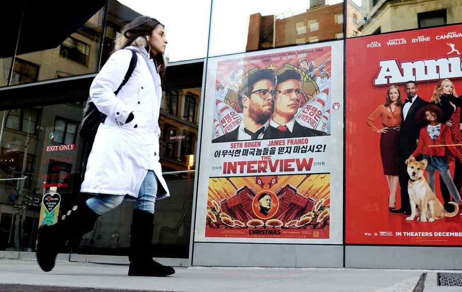"Plakat filmu ""The Interview"" /JUSTIN LANE /PAP/EPA"