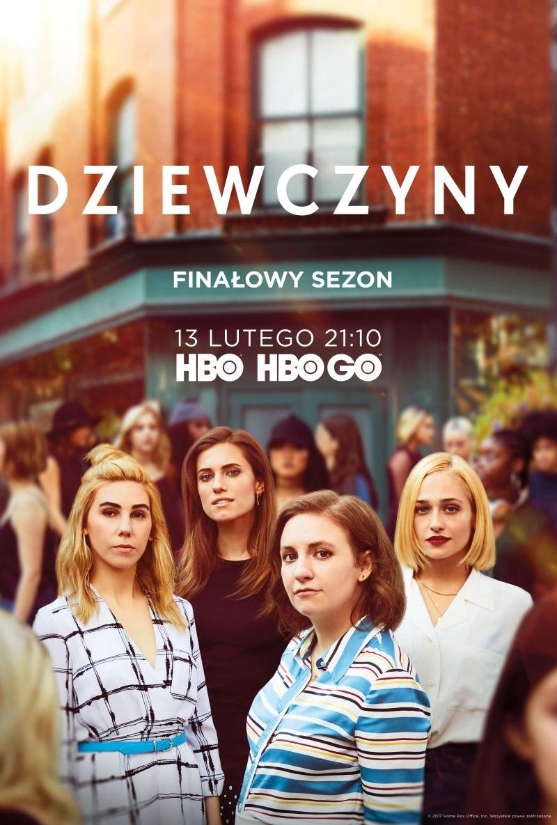 """Plakat finałowego sezonu serialu """"Dziewczyny"""" /HBO"""