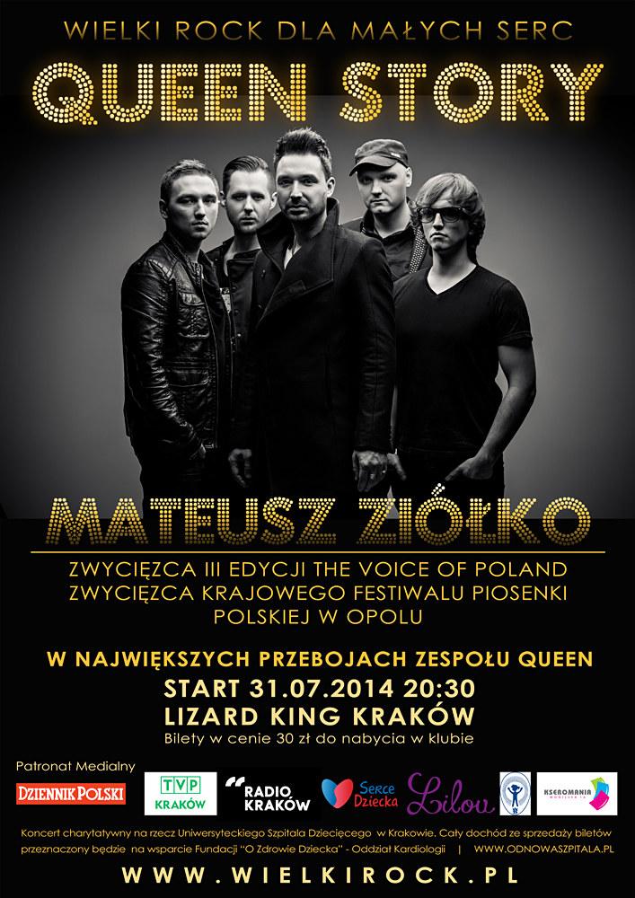 """Plakat koncertu """"Wielki rock dla małych serc"""" /materiały prasowe"""