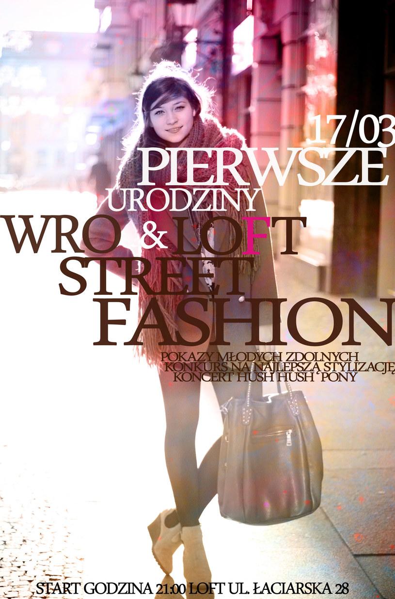 Plakat promujący pokaz mody /materiały prasowe