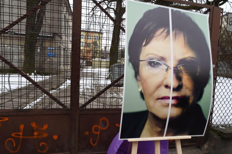Plakat przedstawiający premier Ewę Kopacz, zaprezentowany podczas konferencji Twojego Ruchu /Grzegorz Michałowski /PAP
