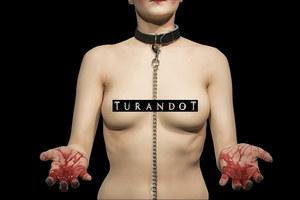 "Plakat sztuki ""Turandot"" /Michał Jadczak /materiały prasowe"