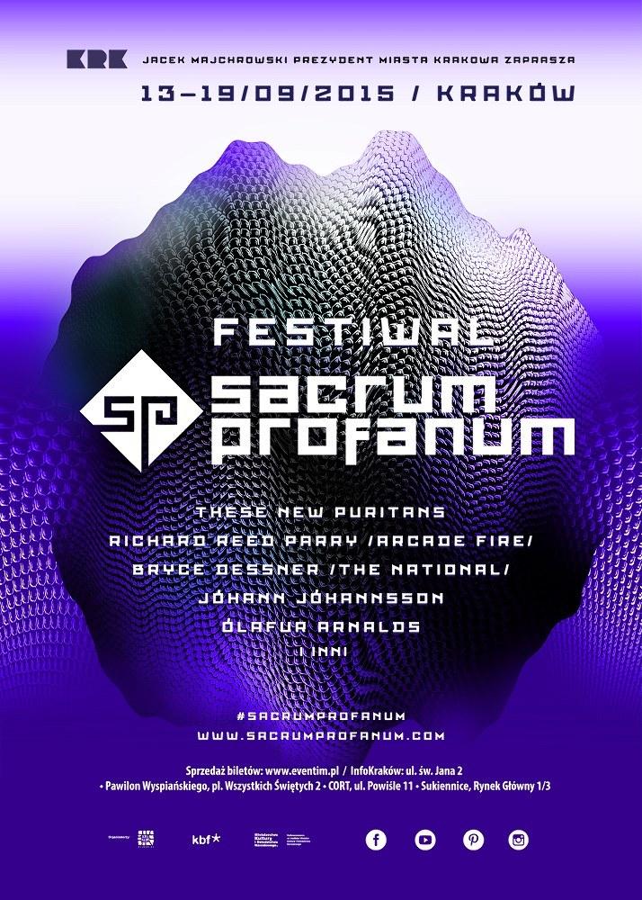 Plakat tegorocznej edycji festiwalu Sacrum Profanum /materiały programowe
