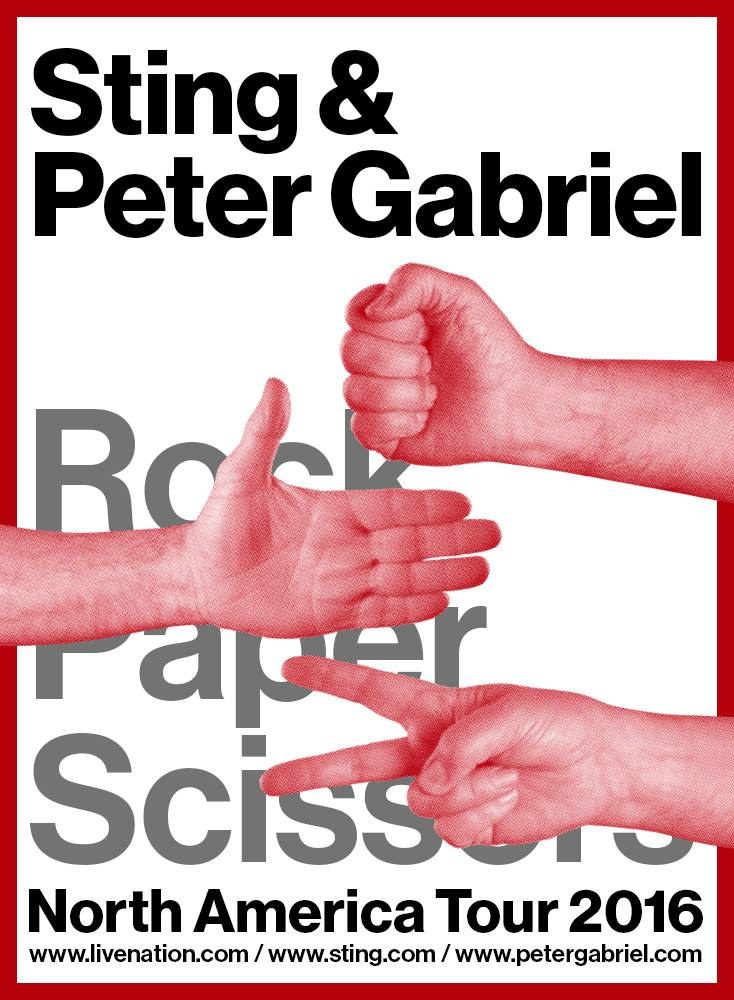 Plakat wspólnej trasy Stinga i Petera Gabriela /oficjalna strona wykonawcy