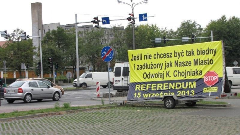 Plakat zachęcający do udziału w referendum. /Monika Gosławska /RMF FM