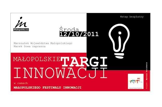 Plakat zapraszający na Małopolskie Targi Innowacji /materiały prasowe