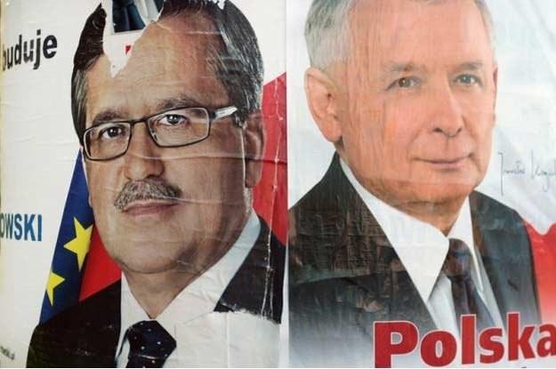 Plakaty wyborcze kandydatów na prezydenta / fot. J. Waszkiewicz (Reporter) /