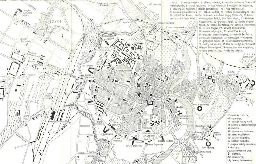 Plan Poznania - początek XX wieku /materiały prasowe