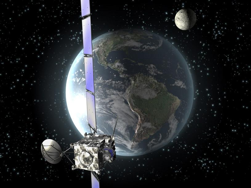Planetoida 2013 YB znalazła się bliżej Ziemi niż satelity na orbicie geostacjonarnej! /AFP