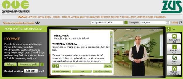 Platforma Usług Elektronicznych ZUS - jeden z jego elementów, czyli portal PUE /Internet