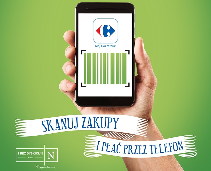 Płatności mobilne Scan&Go już w sieci Carrefour /materiały prasowe