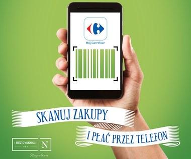 Płatności mobilne Scan&Go w sklepach Carrefour