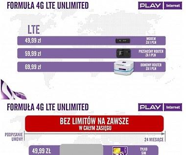 Play - nowa oferta z LTE bez limitów