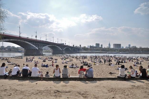 Plaża przy Wiśle w Warszawie /123/RF PICSEL