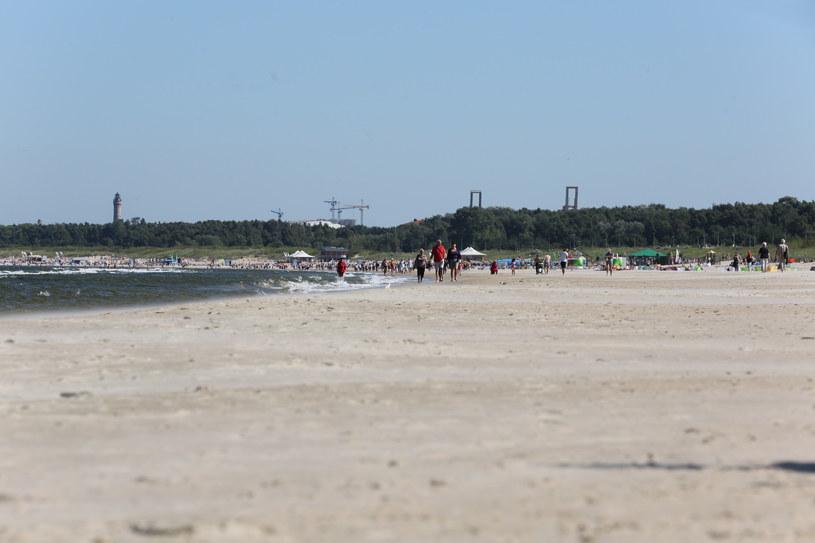 Plaża w Swinoujściu /Aneta Łuczkowska /RMF FM