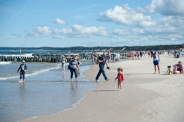 Plaża w Ustce/fot. Hubert Bierndgarski /Reporter