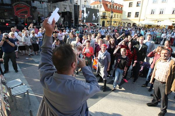 Inscenizacja na rynku w Płocku