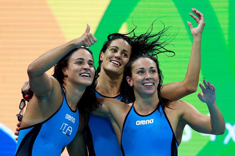 Pływaczki z Włoch, od lewej: Erika Ferraioli, Silvia Di Pietro i Aglaia Pezzato /Getty Images