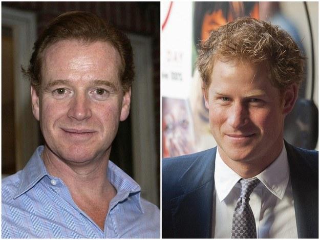Po lewej: James Hewitt na zdjęciu z marca 2004 roku [fot. YUI MOK]. Po prawej: książę Harry [fot. WILL OLIVER] /PAP/EPA /