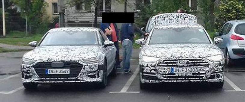 Po lewej nowe Audi A7, po prawej A8 /