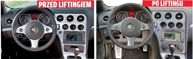Po liftingu zmieniono jedynie detale - m.in. kolorystykę panelu konsoli środkowej i czcionkę zegarów. Na zdjęciu po prawej - wnętrze wersji Ti z charakterystyczną, sportową kierownicą. /Motor