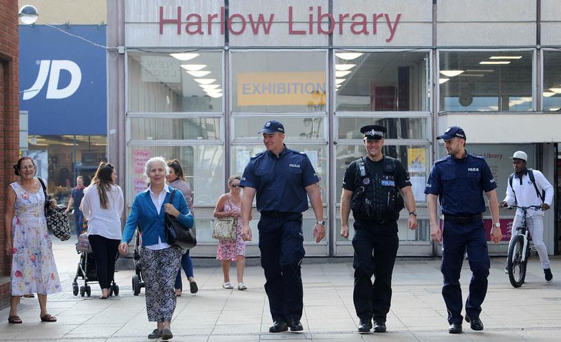 Po morderstwie w Harlow polscy policjanci patrolowali ulice wraz z brytyjskimi funkcjonariuszami /AFP