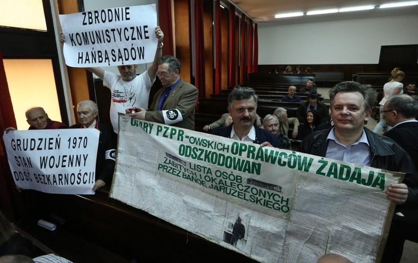 Po ogłoszeniu wyroku w procesie w sprawie masakry robotników na Wybrzeżu w grudniu 1970 r. /R. Guz /PAP