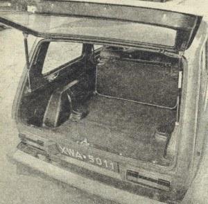 Po położeniu tylnego oparcia uzyskuje się sporą powierzchnię ładunkową. Szkoda, że pod klapą tylną znajduje się dość wysoki próg. /Motor