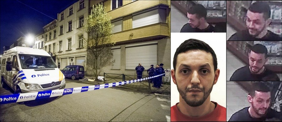 Po prawej: Mohamed Abrini, po lewej: piątkowa operacja belgijskiej policji w Brukseli /BELGIAN FEDERAL POLICE/HANDOUT /PAP/EPA