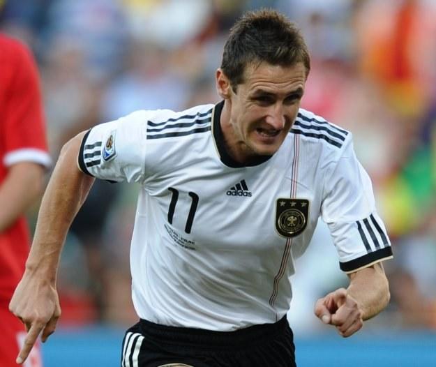 Pochodzący z Polski piłkarz reprezentacji Niemiec Miroslav Klose /AFP